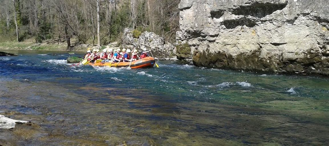 Rafting in the Tarn Gorge